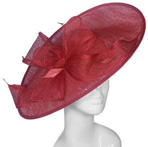 Bombshell Saucer Red Hat