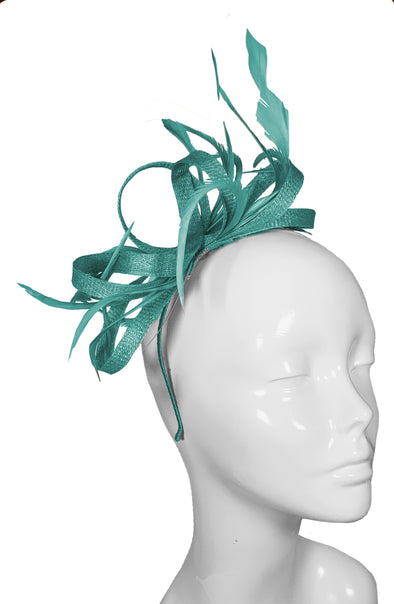 The Bombshell 'Finishing Touch' Fascinator Turquoise