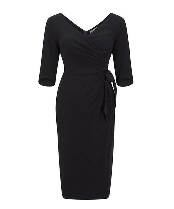 mother of the bride dress black