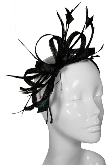 The Bombshell 'Finishing Touch' Fascinator Black