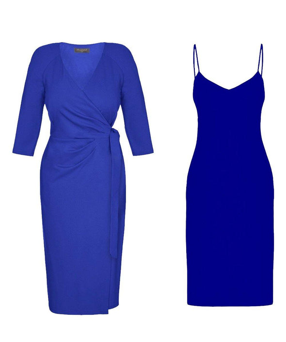 Bombshell dress Bombshell London Blue Cobalt Sapphire Event Workwear Everyday Day to Night