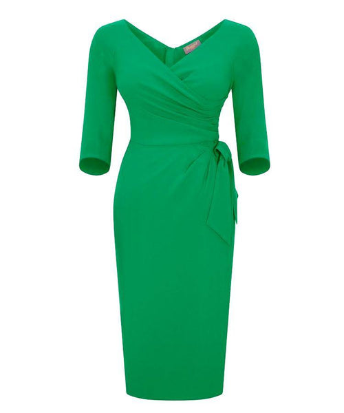 mother of the bride dress wedding guest dress with sleeves wrap