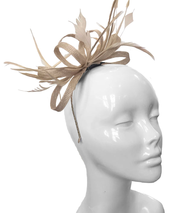 The Bombshell 'Finishing Touch' Fascinator Champagne
