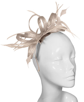 The Bombshell 'Finishing Touch' Fascinator Champagne Lurex