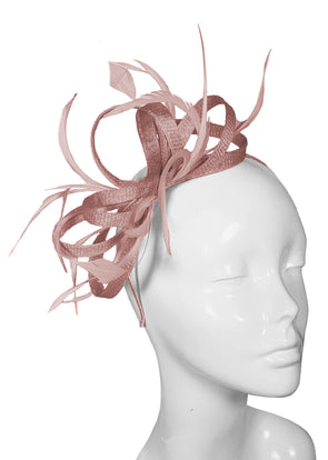 The Bombshell 'Finishing Touch' Fascinator Cinder Rose