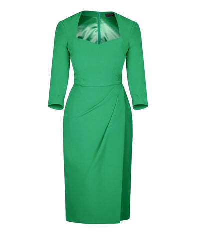 Bombshell dress Bombshell London Sweetheart Green Parakeet 3/4 sleeve wedding event