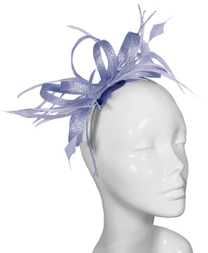 The Bombshell 'Finishing Touch' Fascinator Heron Blue