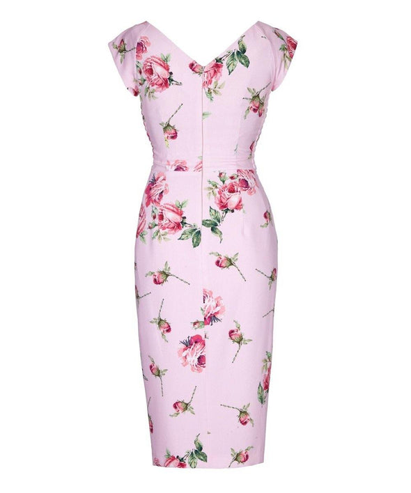 Kensington Roses  Cap Sleeve Sarong Wrap Dress