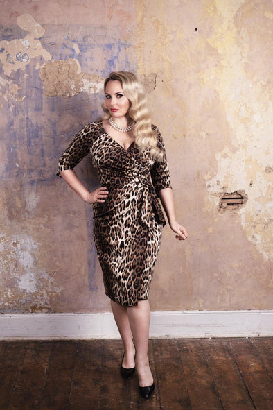 Leopard Confident Bombshell 3/4 Length Sleeve Dress - Bombshell London