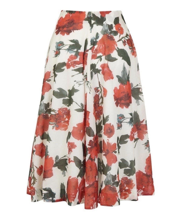 Cotswolds Roses Voile Bombshell 'Grace' Tie Front Skirt