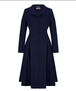 Navy Bombshell Coat Dress