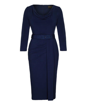 Navy Day to Night Dress Everyday Workwear Event Wedding Work Do Date Night