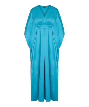 Turquoise Kaftan, Summer Evening, Cruise, Holiday, Cover Up, Festival, Wedding