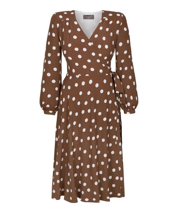 Bell Sleeve Wrap Dress Front