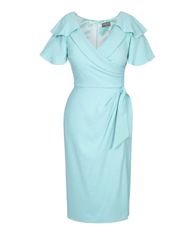 Bombshell dress Bombshell London Duck Egg Pastel Blue Event Baptism Wedding