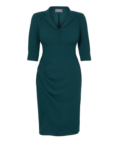 Dark Green Tea Dress