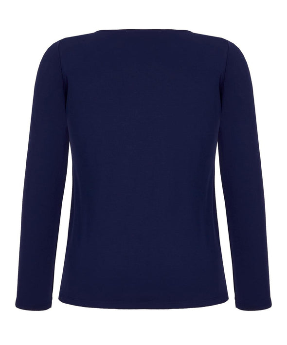 Lounge Drape Top in Navy - Bombshell London