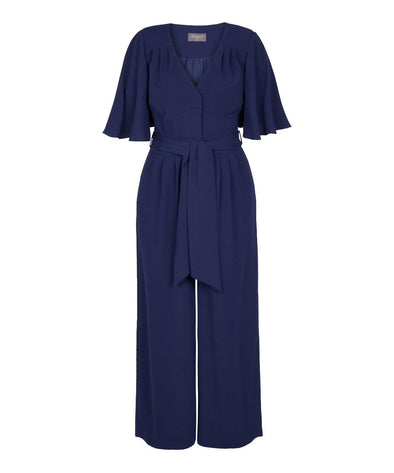 Angel Sleeve Jumpsuit in Navy