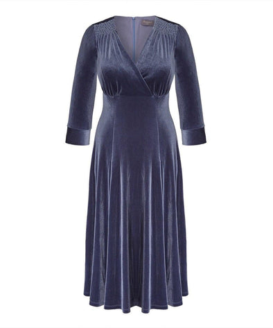 Blue Heron Velvet Swing Bombshell Tea Dress