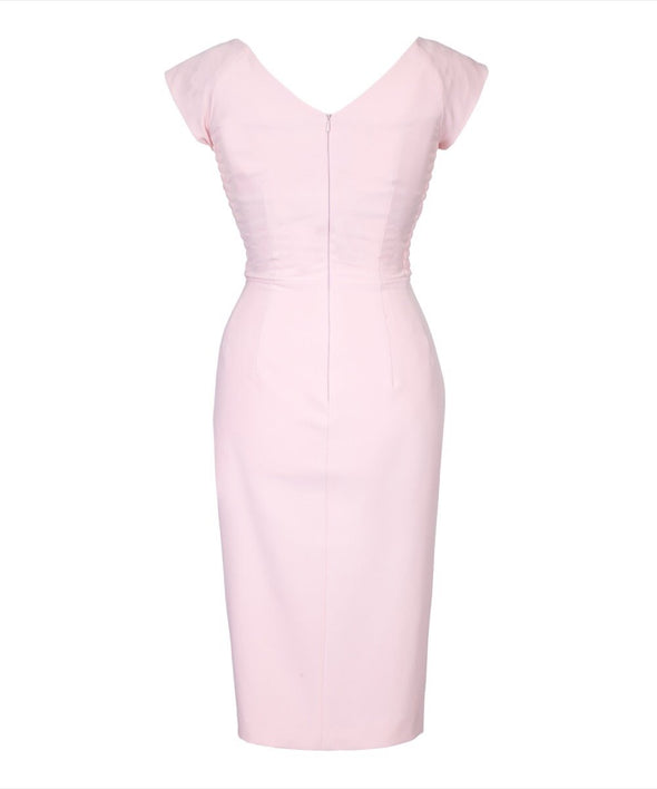 Bombshell Confident Pale Pink Cap Sleeve Dress