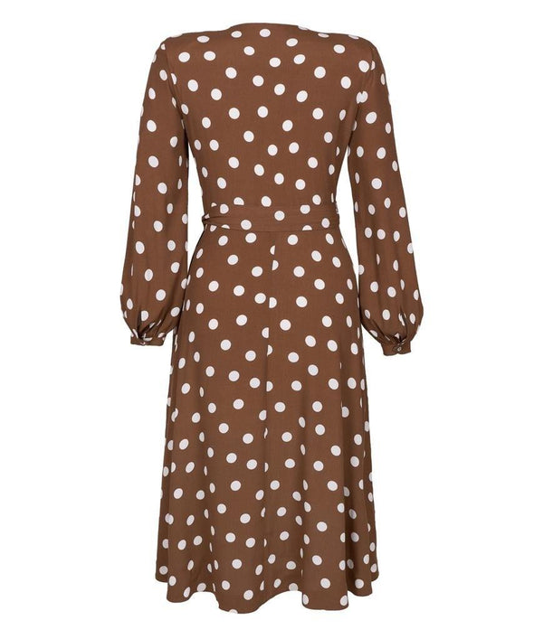 Bell Sleeve Wrap Dress Back