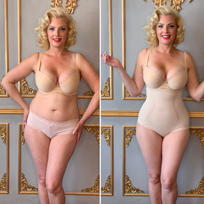 Rescue High Waisted Knickers Beige