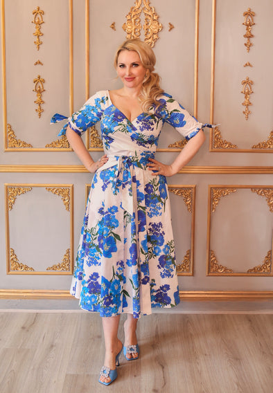 Xanthe Blue Bombshell 'RSVP' Dress