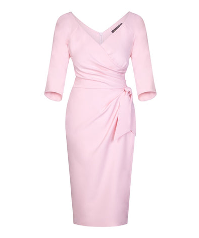Pale Pink Bombshell 3/4 Sleeve Confident Dress