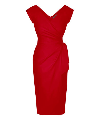 Confident Red Cap Sleeve Dress