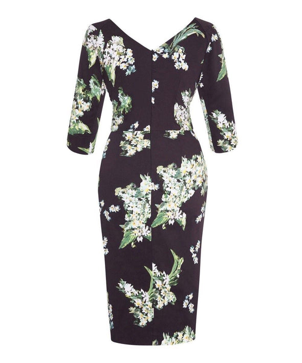 Lily of the Valley Bombshell 3/4 Sleeve Confident Dress