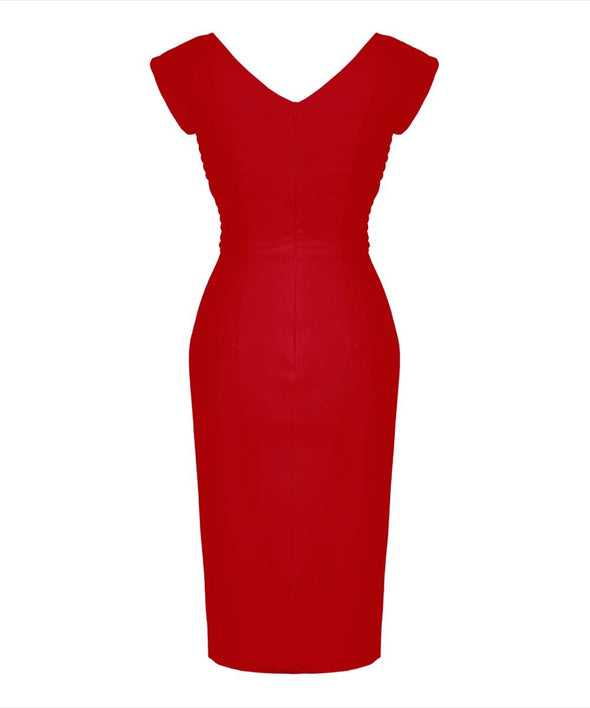 Bombshell Confident Red Cap Sleeve Dress