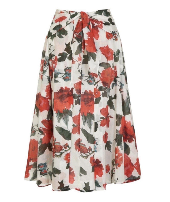 Cotswolds Voile Tie Front Grace Skirt