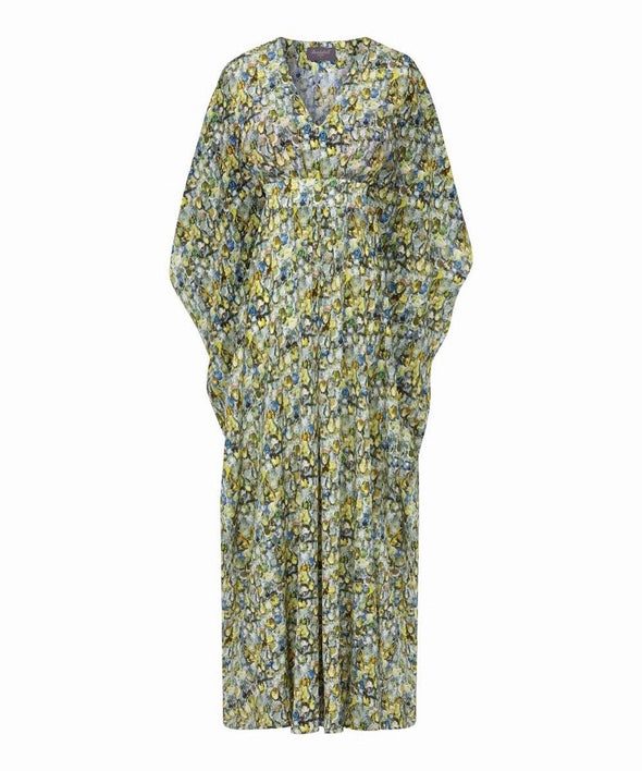 Bombshell Liberty Silk Kaftan Dress in Alexandra