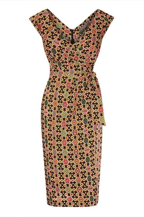Bombshell Confident Cap Sleeve Dress in Liberty Fab Print