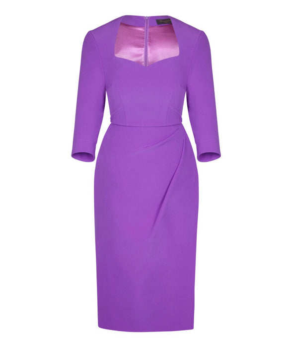 Sweetheart Bombshell 3/4 Sleeve Dress Lilac