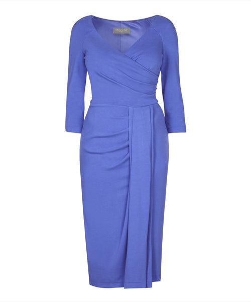 Stretch Luxe 'Periwinkle' Bombshell Dress