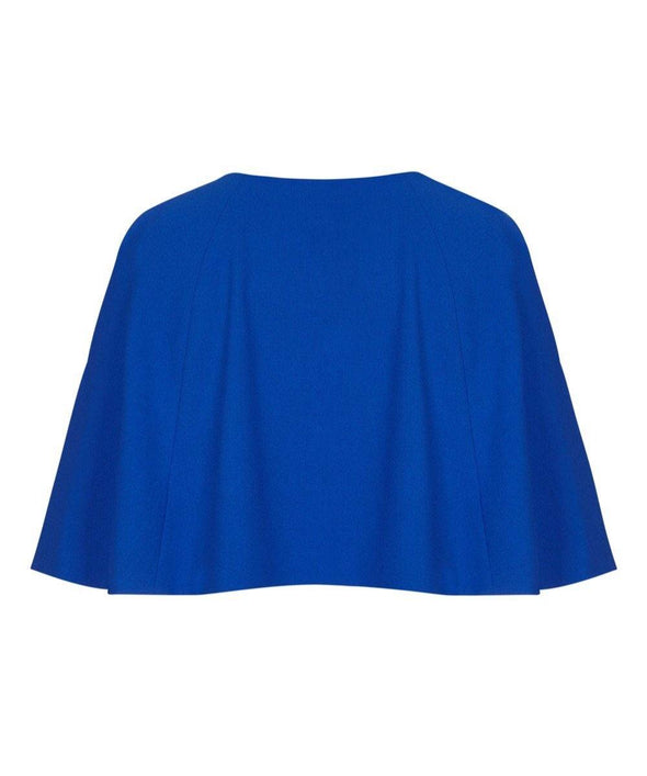 Bombshell Cape in Bright Blue Crepe Mother of the Bride Wedding Guest
