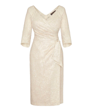 Bombshell Gold and Cream Confident Dress Mother of the Bridge Event Occasion matching coat