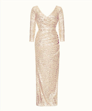 The Ultimate Bombshell Blush Sequin Gown