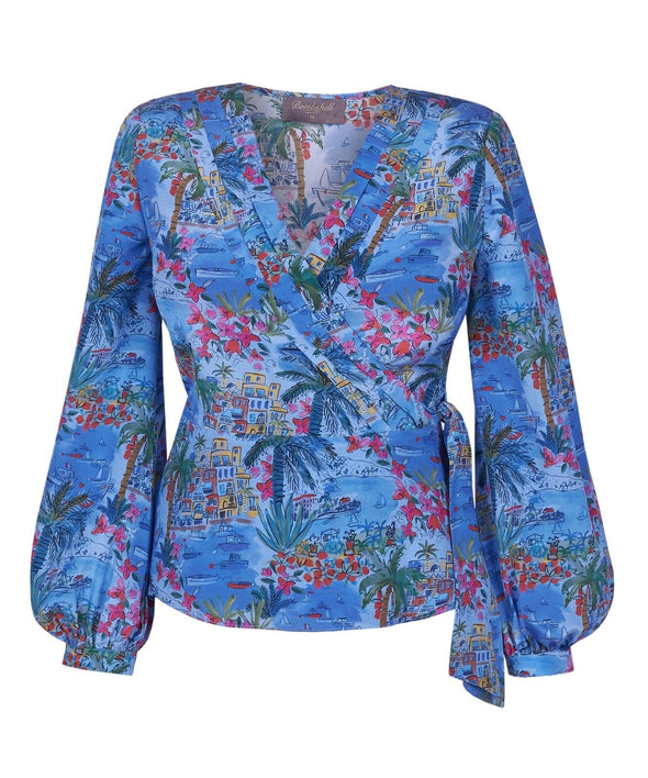 Blouse in silk Liberty 'Capevista' Print front