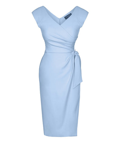 Bombshell Powder Blue Cap Sleeve Confident