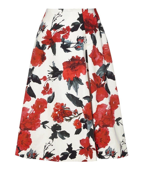 Cotswolds Red Roses Bombshell Skirt | Mother of the Bride Wedding Guest Dress