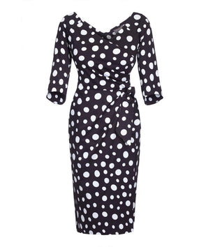 Bombshell dress Bombshell London Polka Dot Classic Chic Wedding Races Ascot Event Mother of the Bride Work