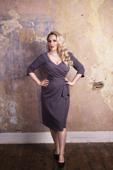 "Grey ""Edge of the shoulder fit"" Confident Dress - Bombshell London"