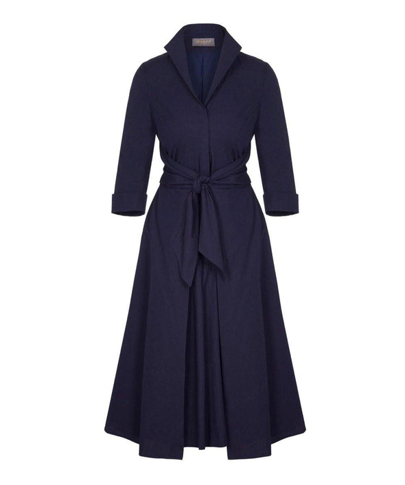 Navy Grace Tie Front Shirt Dress | Mother of the Bride Wedding Guest Dress