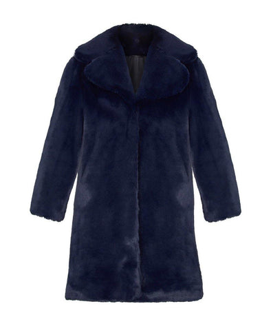 Midnight Bombshell Faux Fur Coat LIMITED EDITION