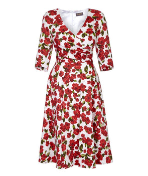 Fit Flare Flatter 'Red Roses' Bombshell Dress