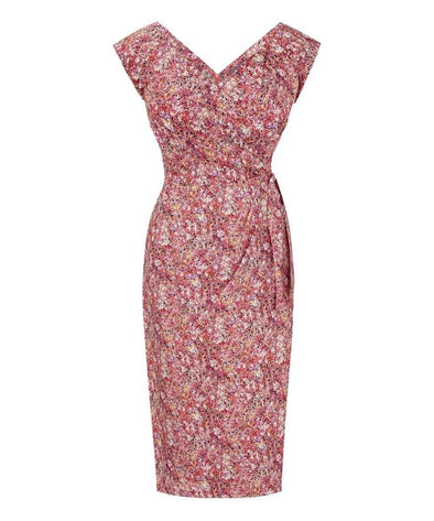 Bombshell Cap Sleeve Dress in Liberty Melly Print Mother of the Bride Wedding Guest Dress