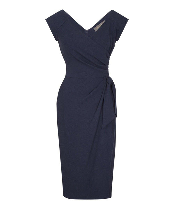 Confident Navy Cap Sleeve Dress