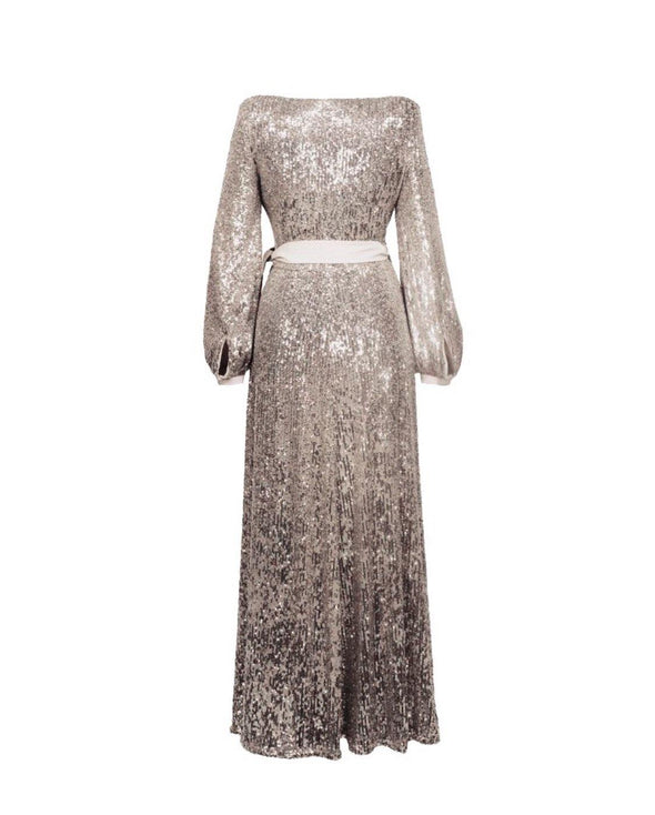 Luxury Sequins Bombshell Robe in Gold Oyster - Bombshell London